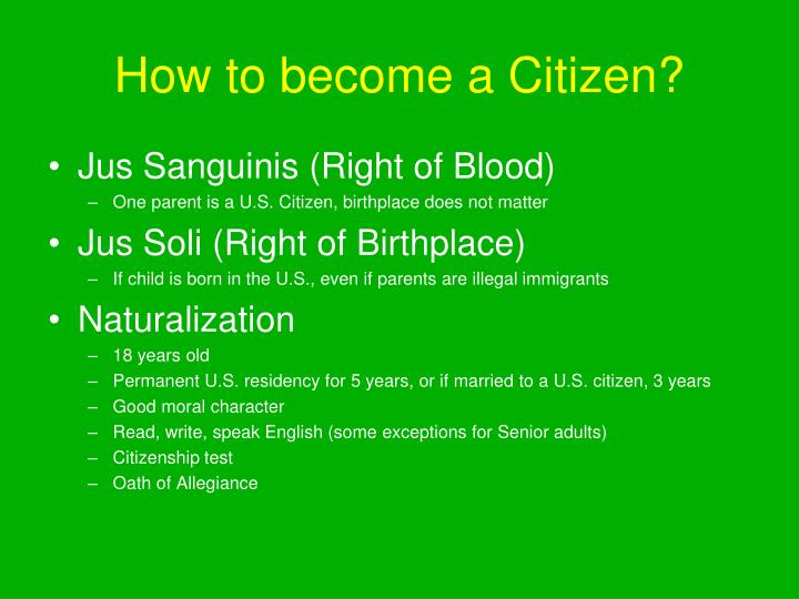 How to become a Citizen?