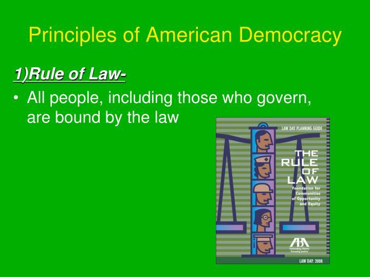 Principles of American Democracy