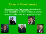types of governments1