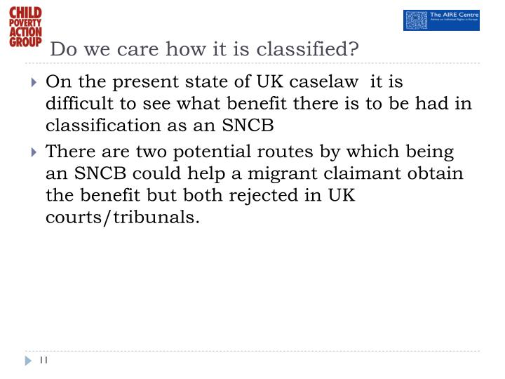 Do we care how it is classified?