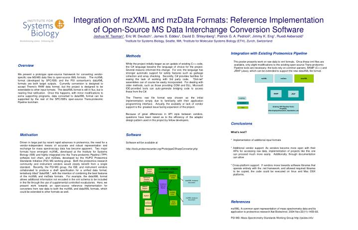 Integration of mzXML and mzData Formats: Reference Implementation