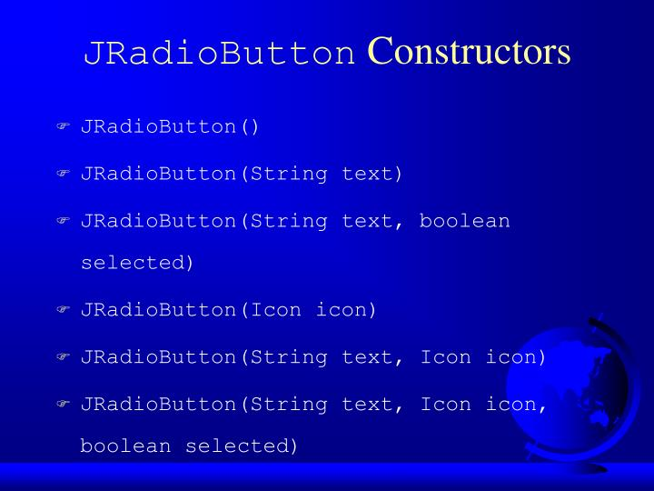 JRadioButton