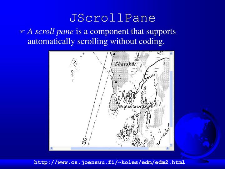 JScrollPane