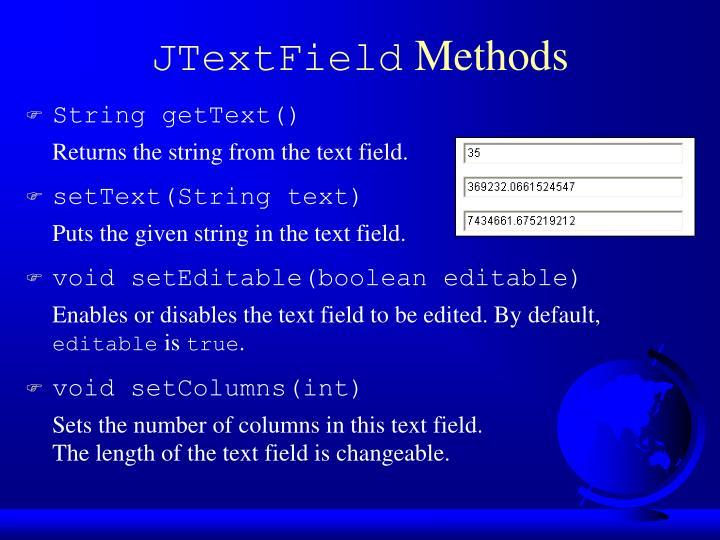 JTextField
