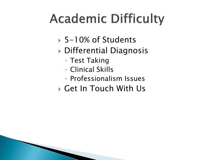 Academic Difficulty