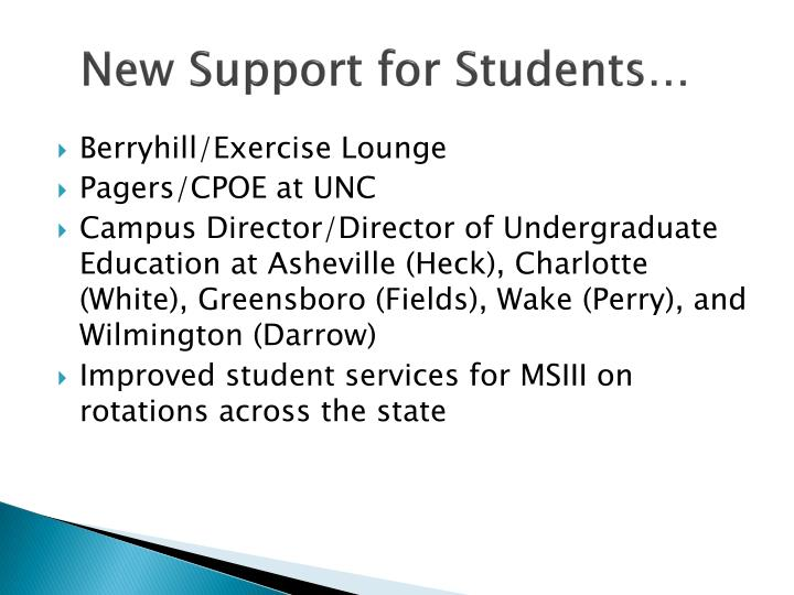 New Support for Students…