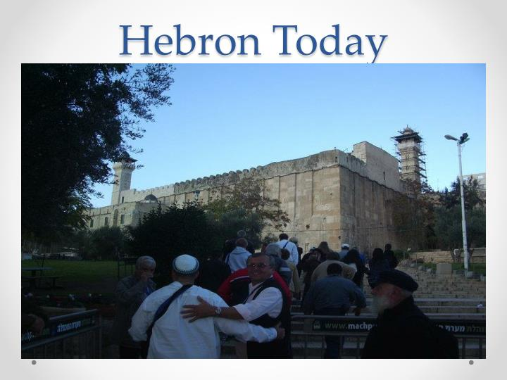 Hebron Today