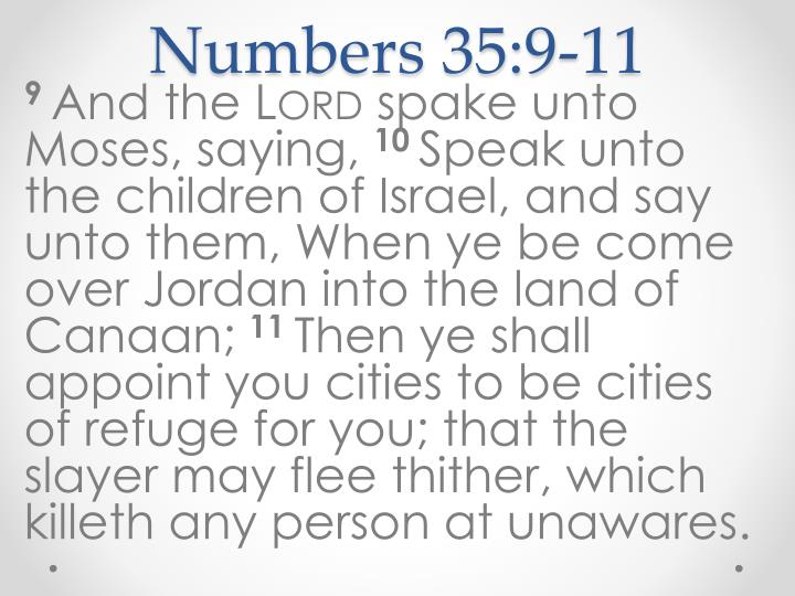 Numbers 35:9-11