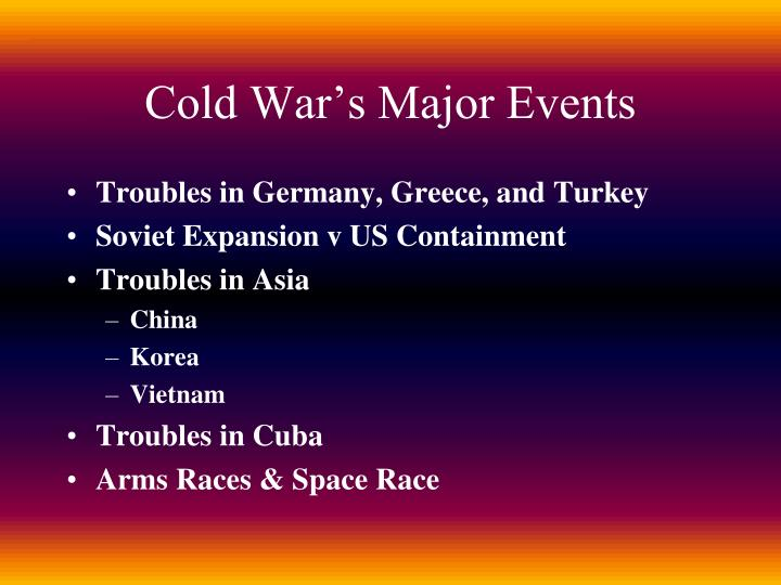Cold War's Major Events