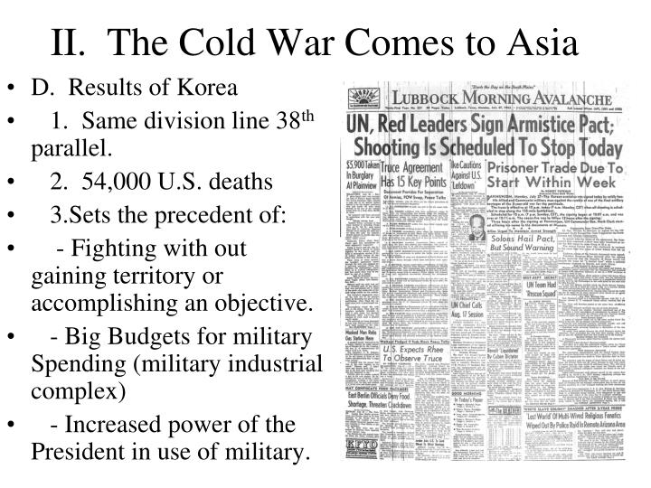 II.  The Cold War Comes to Asia