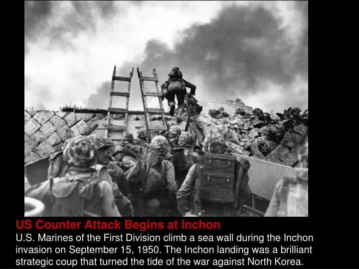 US Counter Attack Begins at Inchon