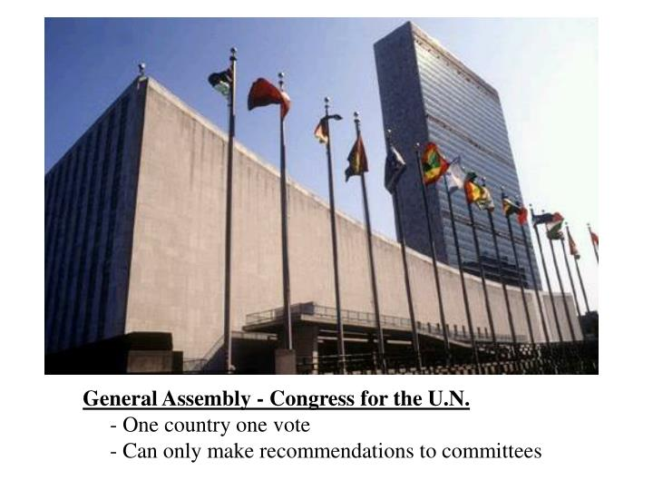 General Assembly - Congress for the U.N.