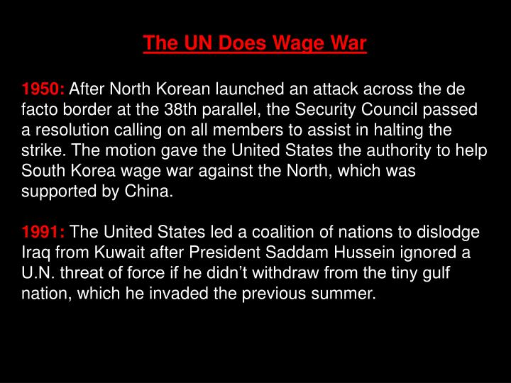The UN Does Wage War