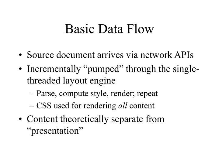 Basic Data Flow