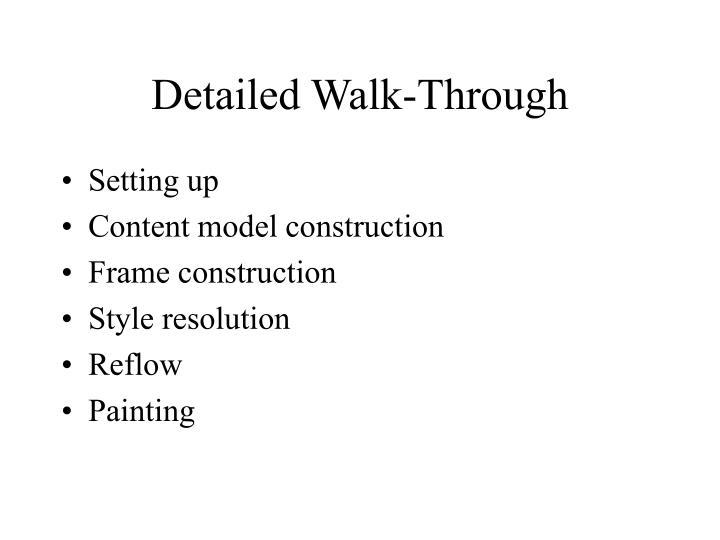 Detailed Walk-Through