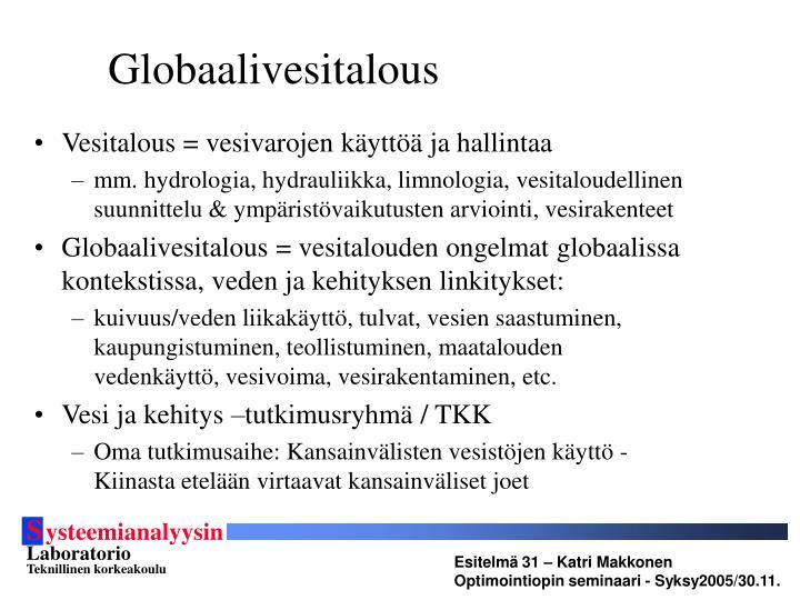 Globaalivesitalous