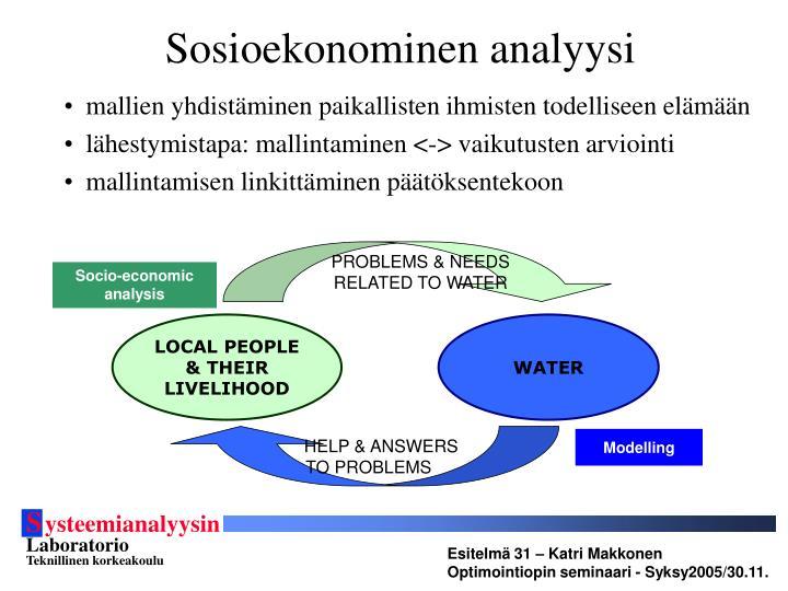 Sosioekonominen analyysi
