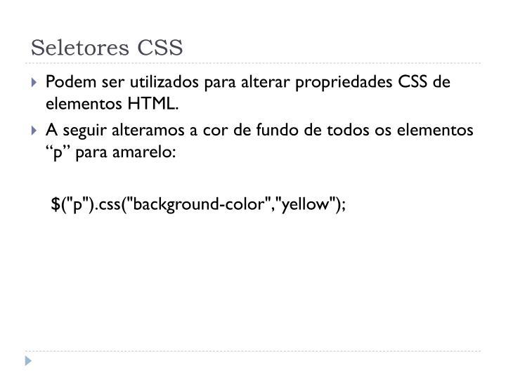 Seletores CSS