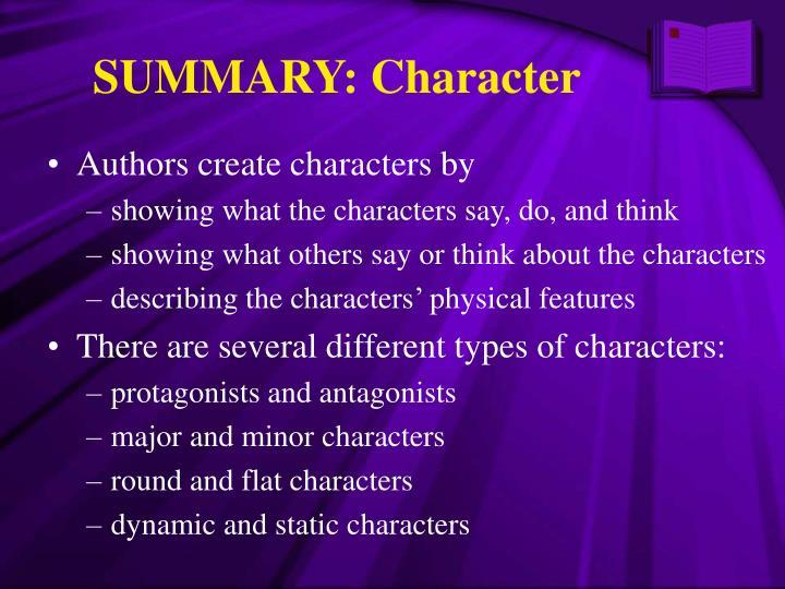 SUMMARY: Character