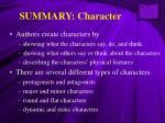 summary character