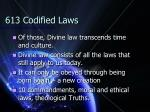 613 codified laws