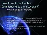 how do we know the ten commandments are a covenant