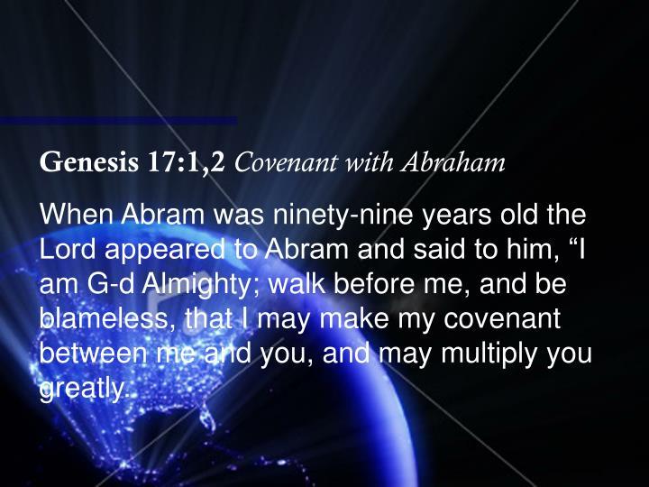 Genesis 17:1,2