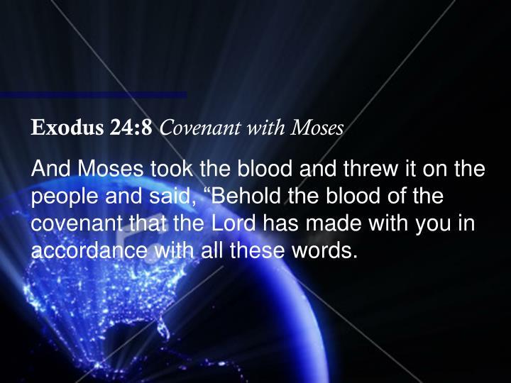 Exodus 24:8
