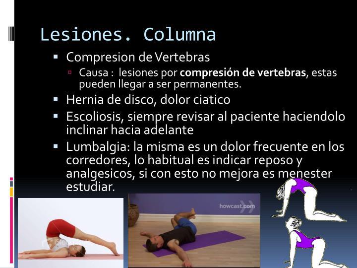 Lesiones. Columna