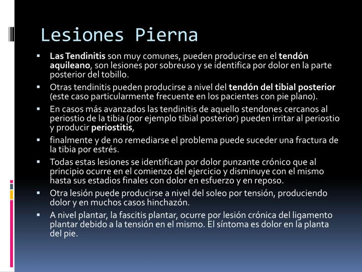 Lesiones Pierna