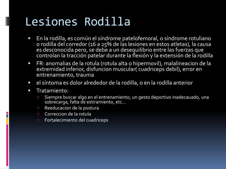 Lesiones Rodilla