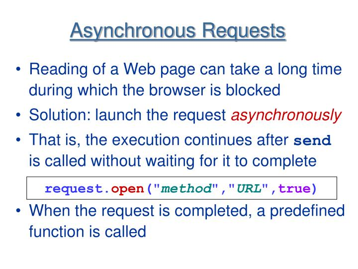 Asynchronous Requests