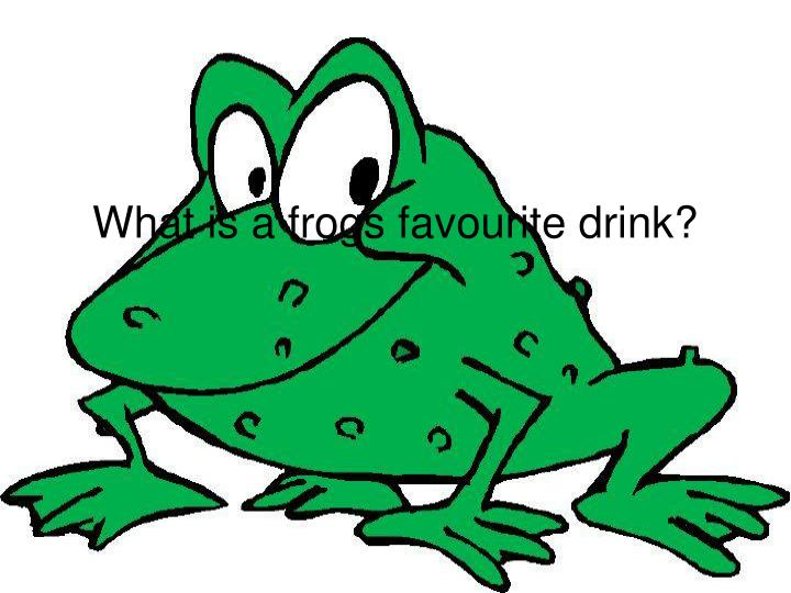 What is a frogs favourite drink?