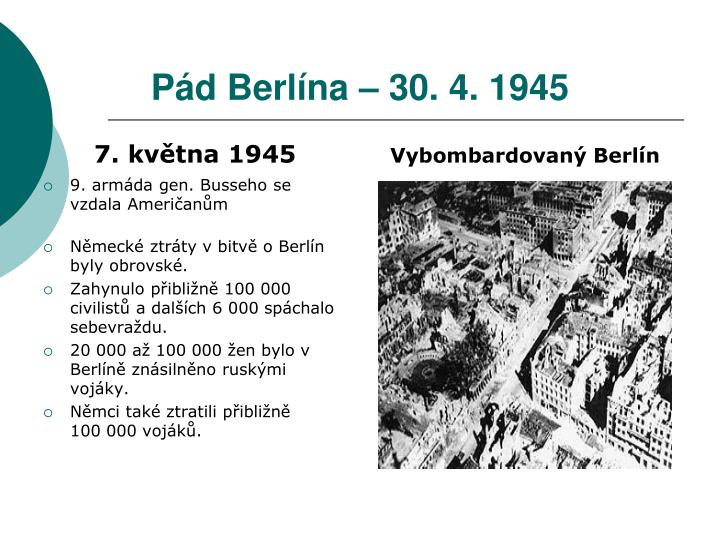 Pád Berlína – 30. 4. 1945