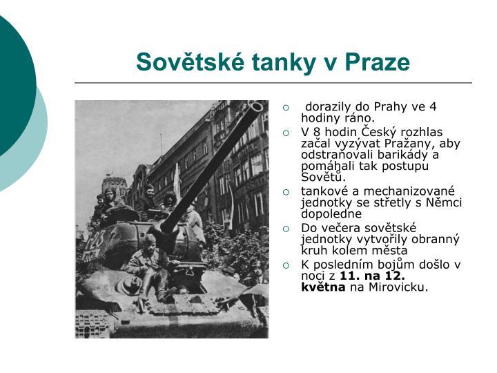Sovětské tanky v Praze