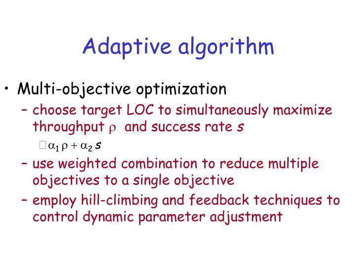 Adaptive algorithm