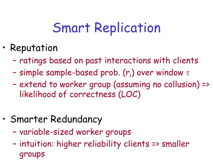 Smart Replication