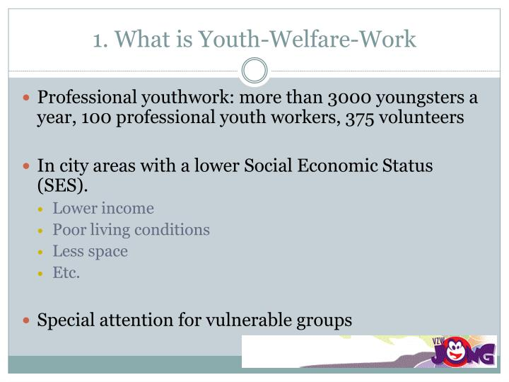 1 what is youth welfare work