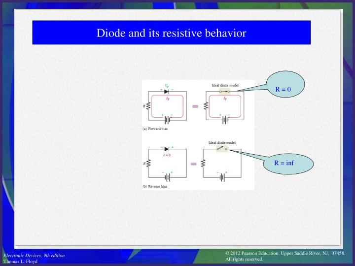 Diode and its resistive behavior