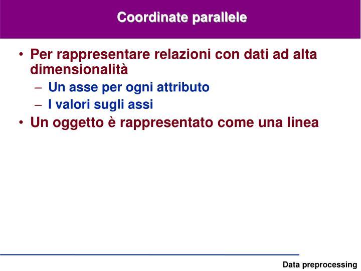 Coordinate parallele