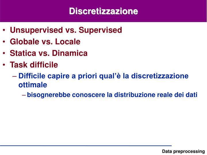 Discretizzazione