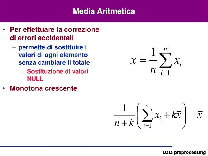 Media Aritmetica