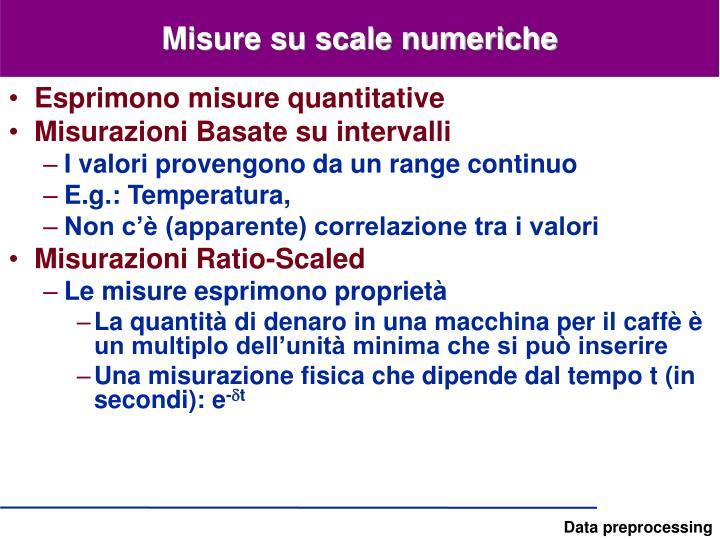 Misure su scale numeriche
