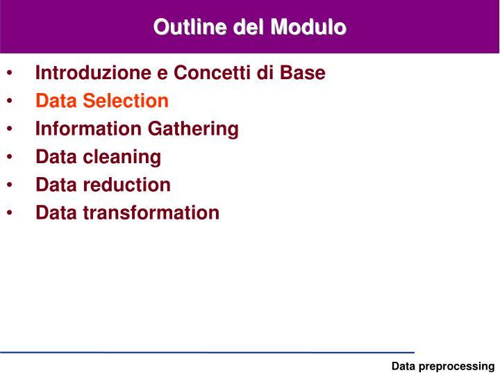 Outline del Modulo
