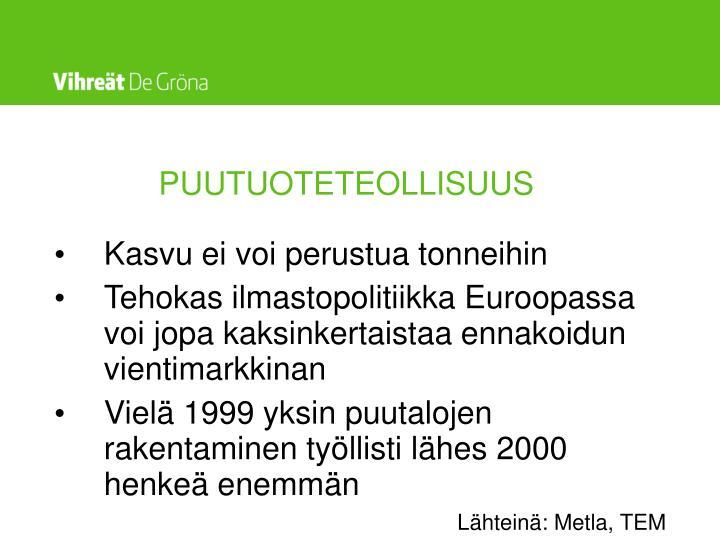 PUUTUOTETEOLLISUUS