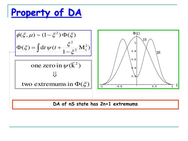 Property of DA