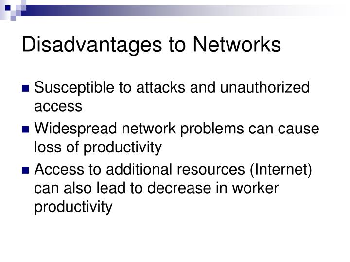 Disadvantages to networks
