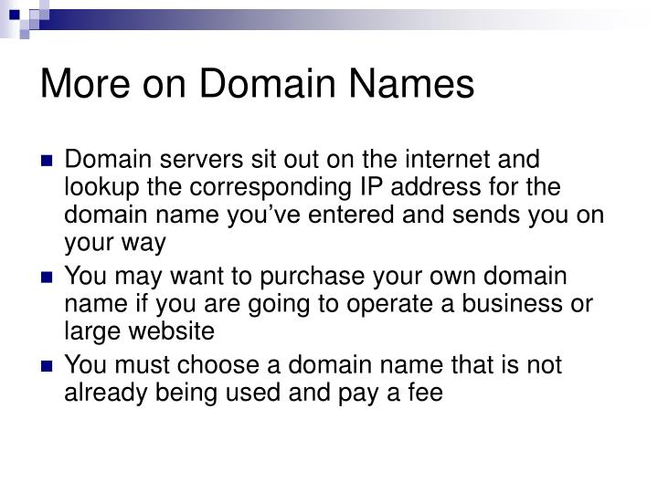 More on Domain Names