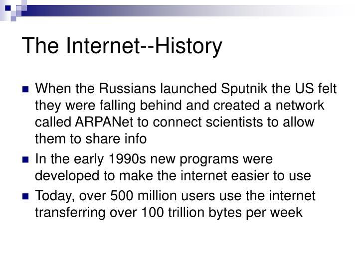 The Internet--History