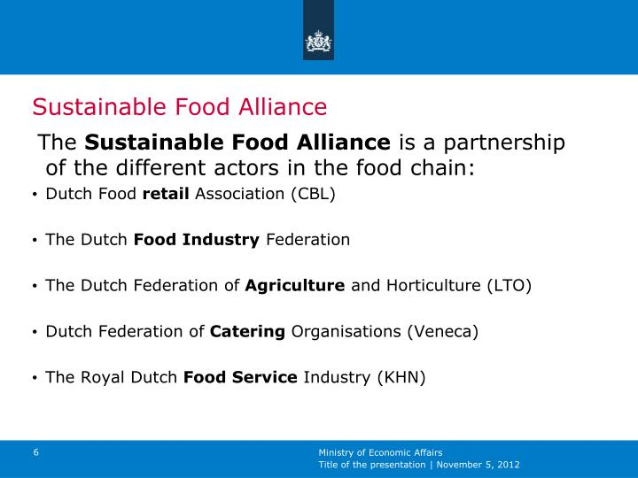 Sustainable Food Alliance
